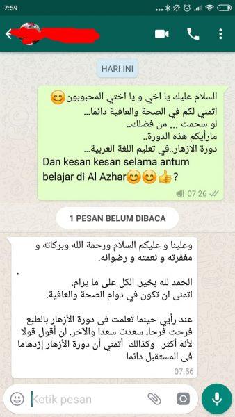 testimoni kursus bahasa arab pare